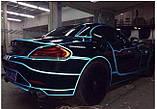 Авто світловідбиваюча стрічка 3M 45.7 m клейка синя декоративна плівка наклейка для тюнінгу скотч, фото 6