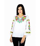 """Вышитая женская рубашка """"Полевые цветы"""" М-228-1, фото 1"""