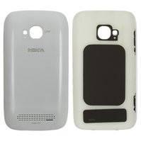 Задняя панель корпуса для мобильного телефона Nokia 710 Lumia, белая, с боковыми кнопками