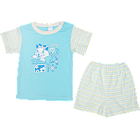 Костюмчик для девочки: футболка с коротким рукавом и шортики, интерлок; ТМ Маленьке Сонечко, р. 74