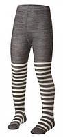 Детские колготки Norveg Merino Wool из мягкой шерсти мериносов 11WU, цвет бело-серая полоска размер 74-80