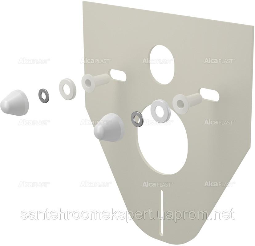 M910  Звукоизоляционная плита для подвесного унитаза и для биде с принадлежностями и колпачками (белыми)
