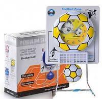 Часы Футбольный мяч, на подставке, на бат-ке, в кор-ке + (Арт. MMT-D13618)