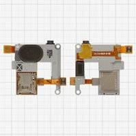 Динамик + звонок для мобильного телефона Samsung M7500, с разъёмом наушников, с коннектором карты памяти, в рамке