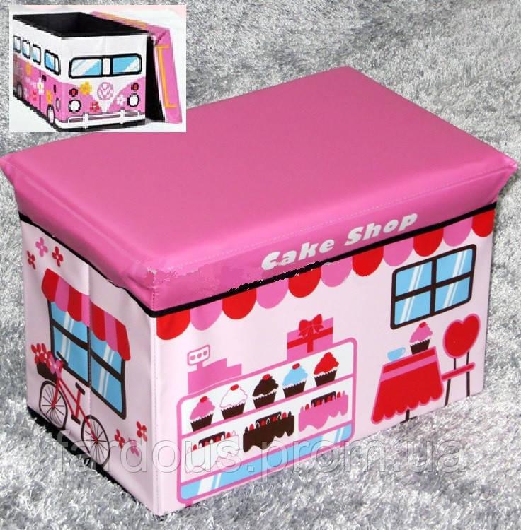 """Пуф - Короб складной, ящик для игрушек """"Кондитерская"""" - «Fardous» в Днепре"""
