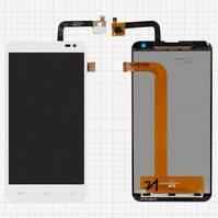 Дисплей для мобильных телефонов Nous NS 5; Fly IQ4514 Quad EVO Tech 4, белый, с сенсорным экраном, original, #5831001702