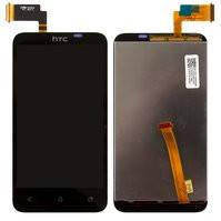 Дисплей для мобильного телефона HTC T328d Desire VC, черный, с сенсорным экраном
