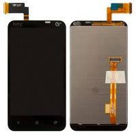 Дисплей для мобильного телефона HTC T328t Desire VT, черный, с сенсорным экраном