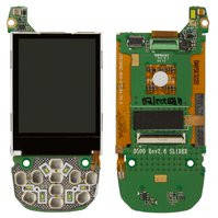Дисплей для мобильных телефонов Samsung D500, D500E, с платой