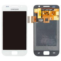 Дисплей для мобильных телефонов Samsung I9000 Galaxy S, I9001 Galaxy S Plus, белый, с сенсорным экраном, original (PRC)