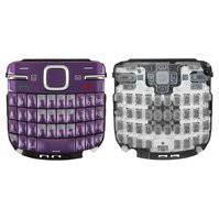 Клавиатура для мобильного телефона Nokia C3-00, фиолетовая, английская