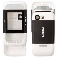 Корпус для мобильного телефона Nokia 5200, high-copy, черный, передняя и задняя панель