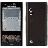 Корпус для мобильного телефона Sony Ericsson G705, high-copy, серый
