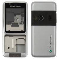 Корпус для мобильного телефона Sony Ericsson K530, high-copy, серый