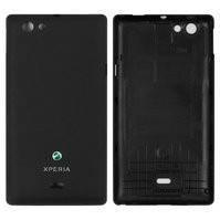 Задняя панель корпуса для мобильного телефона Sony ST23i Xperia Miro, черная