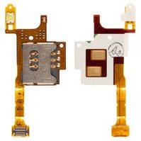 Коннектор SIM-карты для мобильных телефонов Sony Ericsson G705, W705, W715, со шлейфом