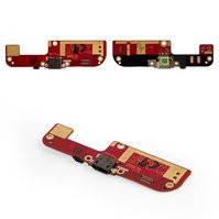 Шлейф для мобильного телефона HTC Desire 200, коннектора зарядки, микрофона, с компонентами