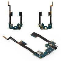 Шлейф для мобильного телефона HTC One Max 803n, коннектора наушников, с компонентами, с коннектором карты памяти