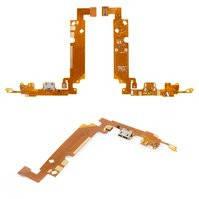 Шлейф для мобильного телефона LG E610 Optimus L5, микрофона, коннектора зарядки, с компонентами