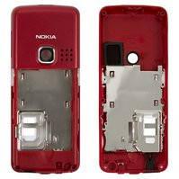 Средняя часть корпуса для мобильного телефона Nokia 6300, красная, пустая