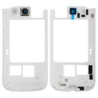 Средняя часть корпуса для мобильного телефона Samsung I9300 Galaxy S3, белая