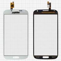 Сенсорный экран для мобильного телефона China-Samsung I9500 S4, емкостный, белый, (134*68мм), (111*62мм), #BXW5019D-A