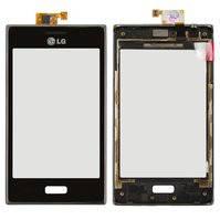 Сенсорный экран для мобильных телефонов LG E610 Optimus L5, E612 Optimus L5, с передней панелью, черный
