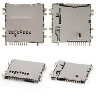 Коннектор карты памяти для планшетов Samsung P5200 Galaxy Tab3, P5210 Galaxy Tab3, T110 Galaxy Tab 3 Lite 7.0, T310 Galaxy Tab 3 8.0, T311 Galaxy Tab