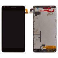 Дисплей для мобильного телефона Microsoft (Nokia) 640 Lumia, черный, с рамкой, с сенсорным экраном