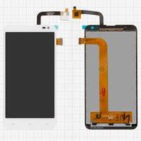 Дисплей для мобильных телефонов Nous NS 5; Fly IQ4514 Quad EVO Tech 4, белый, с сенсорным экраном