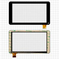 """Сенсорный экран для планшета China-Tablet PC 7"""", 7"""", 30 pin, емкостный, черный, (186*106 мм), #GF7033A2-PG/GT70PFD8880"""