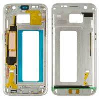 Средняя часть корпуса для мобильного телефона Samsung G935F Galaxy S7 EDGE, белая
