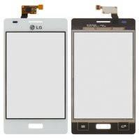 Сенсорный экран для мобильных телефонов LG E610 Optimus L5, E612 Optimus L5, белый