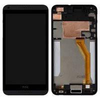 Дисплей для мобильного телефона HTC Desire 816, черный, с передней панелью, с сенсорным экраном, желтый шлейф