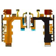Шлейф для мобильных телефонов Sony D6502 Xperia Z2, D6503 Xperia Z2, звонка, боковых клавиш, кнопки включения, с микрофоном, с компонентами