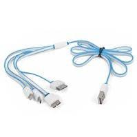 Универсальный USB-кабель, 4 в 1, для зарядки телефона, 30 pin для Apple, USB тип-A, USB 3.0 micro тип-B, micro-USB тип-B, Lightning для Apple
