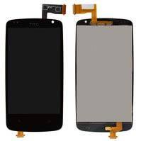 Дисплей для мобильного телефона HTC Desire 500, черный, с сенсорным экраном