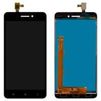 Дисплей для мобильного телефона Lenovo S60, черный, с сенсорным экраном