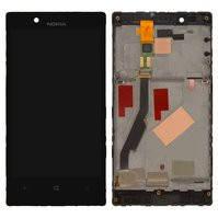 Дисплей для мобильного телефона Nokia 720 Lumia, черный, с сенсорным экраном, с рамкой