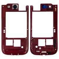 Средняя часть корпуса для мобильного телефона Samsung I9300 Galaxy S3, красная
