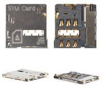Коннектор SIM-карты для мобильных телефонов Samsung I9300 Galaxy S3, I9500 Galaxy S4, I9505 Galaxy S4, N7100 Note 2, N7105 Note 2