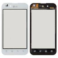 Сенсорный экран для мобильного телефона LG P970 Optimus Black, белый