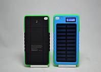 Power Bank Solar Charge 20000 mAh с индикатором на солнечной батарее, внешний аккумулятор, батарея, Повер банк