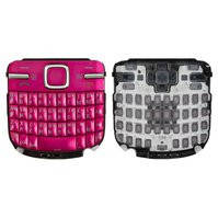 Клавиатура для мобильного телефона Nokia C3-00, розовая, русская