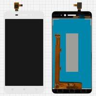 Дисплей для мобильного телефона Lenovo S60, белый, с сенсорным экраном