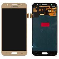 Дисплей для мобильных телефонов Samsung J500F/DS Galaxy J5, J500H/DS Galaxy J5, J500M/DS Galaxy J5, золотистый, с сенсорным экраном, original (PRC)