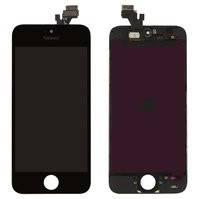 Дисплей  iPhone 5, черный, с рамкой, с сенсорным экраном, high-copy