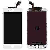 Дисплей  iPhone 6 Plus, белый, с рамкой, с сенсорным экраном, high-copy