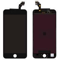 Дисплей  iPhone 6 Plus, черный, с рамкой, с сенсорным экраном, high-copy