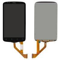 Дисплей для мобильных телефонов HTC G12, S510e Desire S, черный, с узким шлейфом, с сенсорным экраном